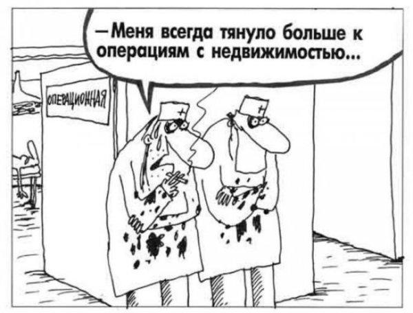 """Карикатура """"Операции с недвижимостью"""""""
