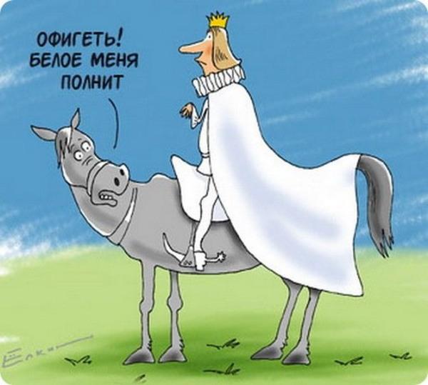"""Карикатура """"Белое полнит"""""""
