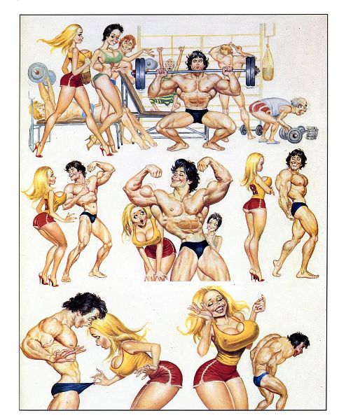 Эротический мини-комикс в спортзале