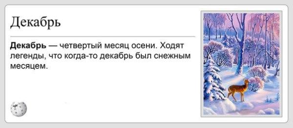 """Смешное фото """"Прикол про декабрь"""""""