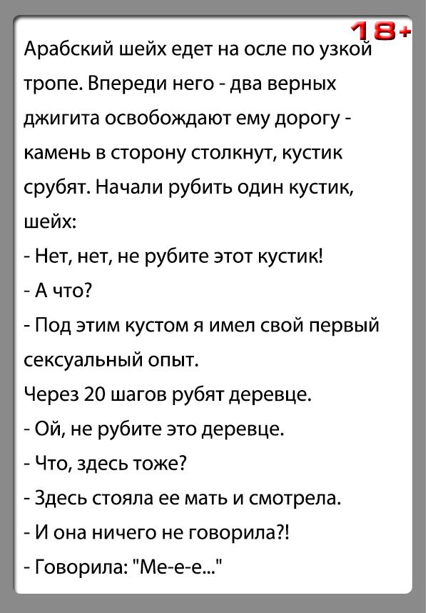 """Анекдот """"Кустик и шейх"""""""