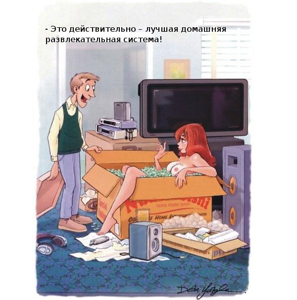 """Картинка для взрослых """"Домашняя развлекательная система"""""""