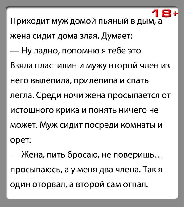 """Анекдот """"Месть из пластилина"""""""